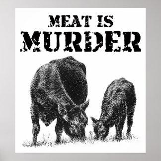 La viande est meurtre poster