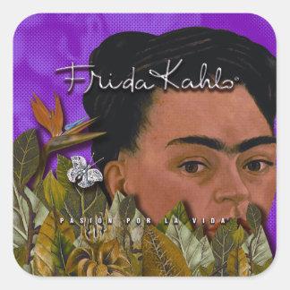 La Vida de Frida Kahlo Pasion Por Sticker Carré