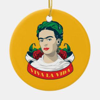 La Vida de vivats de Frida Kahlo | Ornement Rond En Céramique