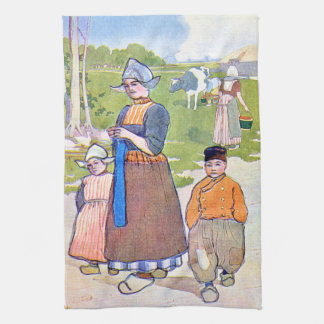 La vie 1906 de la Hollande Linge De Cuisine