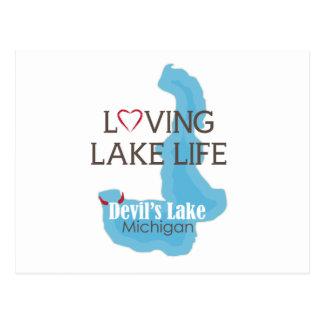 La vie affectueuse de lac, le lac devil's, carte postale