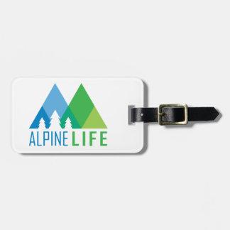 La vie alpine étiquettes bagages