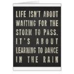 La vie apprend à danser sous la pluie carte de vœux