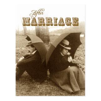La vie APRÈS mariage Carte Postale