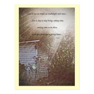 La vie brille la carte postale