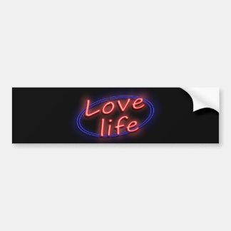 La vie d'amour autocollant pour voiture