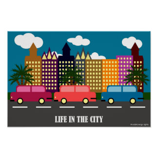 La vie dans la ville poster