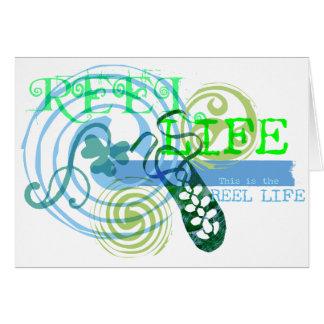 La vie de bobine dans le bleu carte de vœux