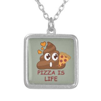 La vie de dunette de pizza pendentif carré