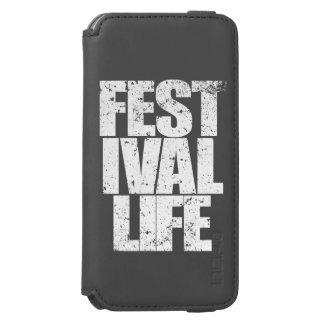 La VIE de FESTIVAL (blanche) Coque-portefeuille iPhone 6 Incipio Watson™