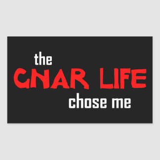 La vie de Gnar Sticker Rectangulaire