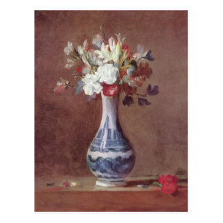La vie de Jean Simeon Chardin- toujours, fleurs Cartes Postales