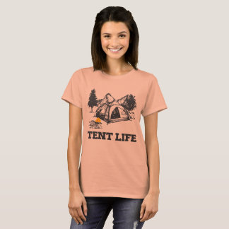 La vie de la tente de la femme t-shirt