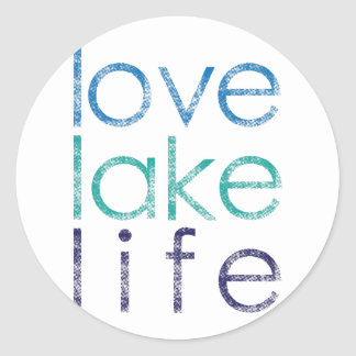 La vie de lac love sticker rond