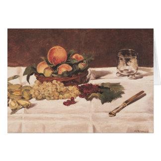 La vie de Manet | toujours : Fruit sur un Tableau, Carte De Vœux