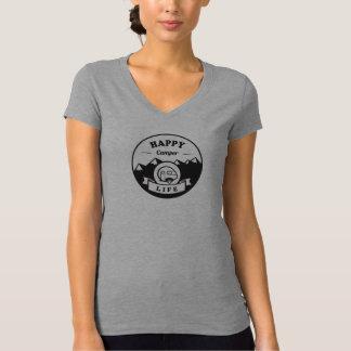 La vie de profondément satisfait - V gris - T-shirt