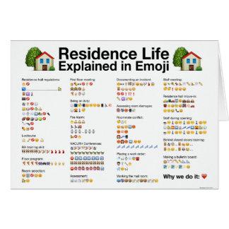 La vie de résidence expliquée dans la carte de