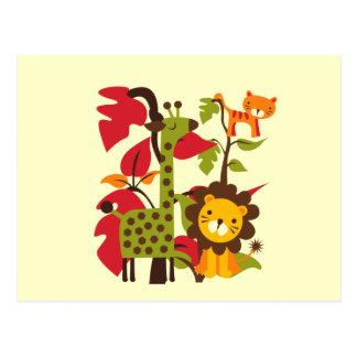 La vie de safari carte postale