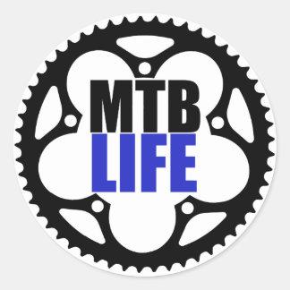 La vie de vélo de montagne sticker rond
