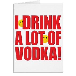 La vie de vodka de boissons cartes