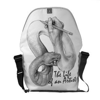 La vie d'un sac messenger à artiste sacoches