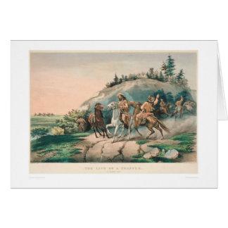 La vie d'un trappeur : Une halte soudaine (0877A) Carte De Vœux