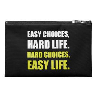La vie dure de choix faciles pochette de voyage