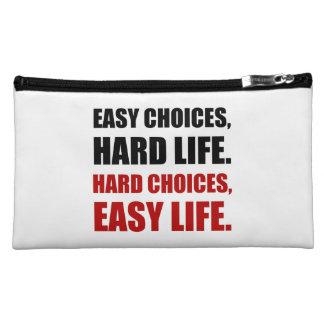 La vie dure de choix faciles pochette simili daim