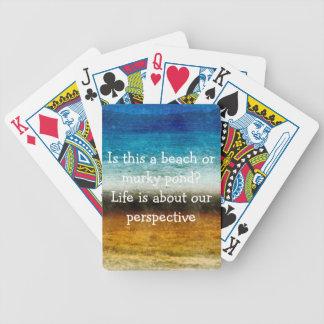 La vie est au sujet de notre perspective cartes à jouer