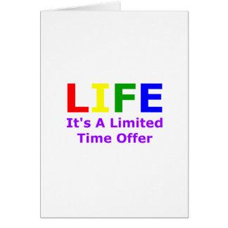La vie est courte carte de vœux