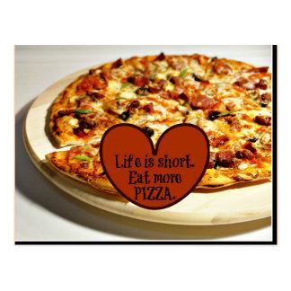 La vie est courte. Mangez de plus de pizza, Carte Postale