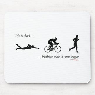 La vie est… des triathlons courts le font sembler  tapis de souris