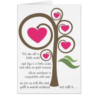 La vie est étrange - carte de Valentine