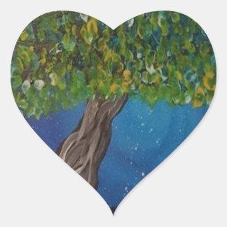 la vie, est la terre, et des arbres sticker cœur