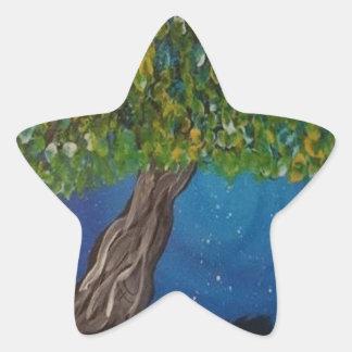 la vie, est la terre, et des arbres sticker étoile