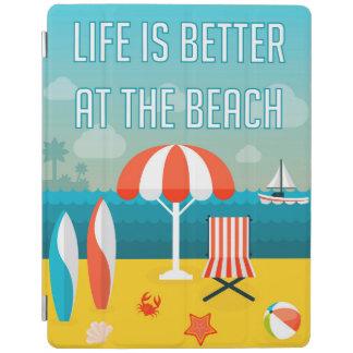 La vie est meilleure à la plage protection iPad