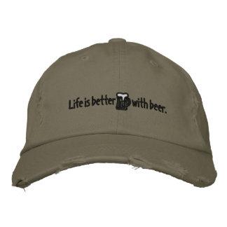 La vie est meilleure avec le casquette de pantalon casquette brodée