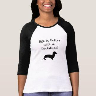 La vie est meilleure avec un teckel t-shirt