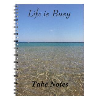 La vie est occupée - prenez les notes carnet