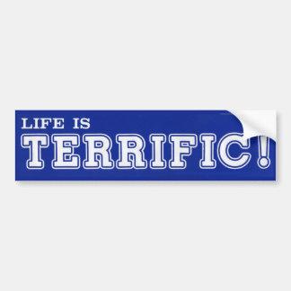 La vie est TERRIBLE ! Adhésif pour pare-chocs Autocollant De Voiture