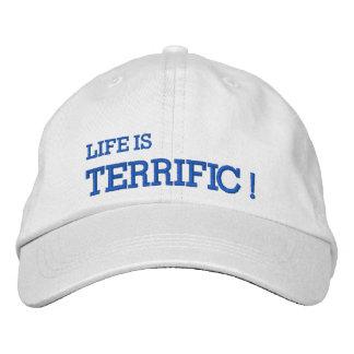 La vie est TERRIBLE ! Casquette brodé