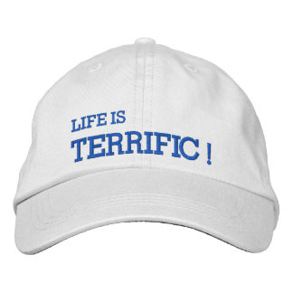 La vie est TERRIBLE ! Casquette brodé Casquette Brodée