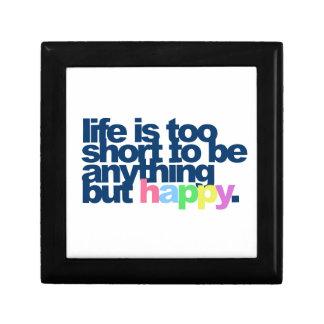 La vie est trop courte pour être quelque chose petite boîte à bijoux carrée