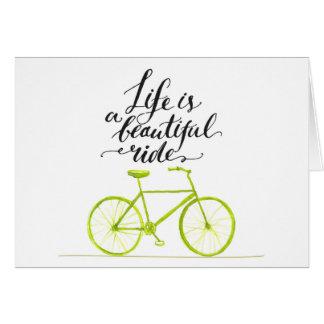 La vie est un beau vert de chaux de tour carte de vœux
