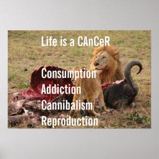 La vie est un Cancer Posters