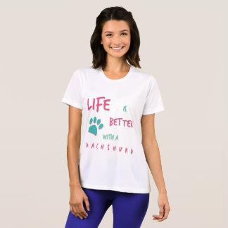 La vie est un meilleur teckel t-shirt