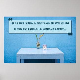 La vie est une équation de maths poster