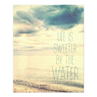 La vie est une scène plus douce de plage prospectus 11,4 cm x 14,2 cm