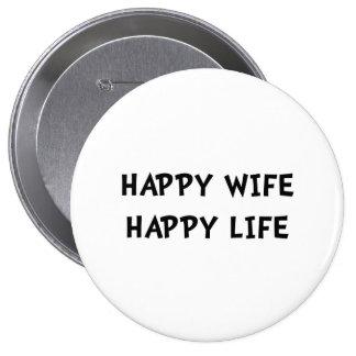 La vie heureuse d'épouse badges