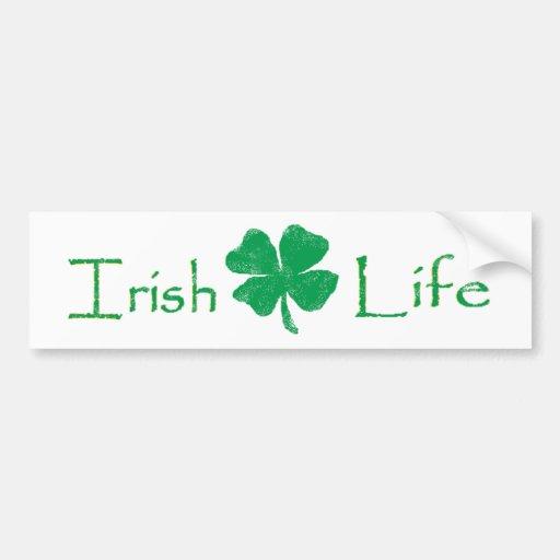 La vie irlandaise autocollant pour voiture